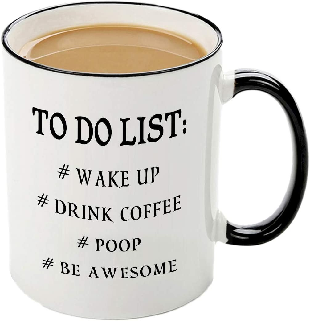 Funny to do list mug-11 OZ coffee tea cup, idea Christmas Birthday Gifts for Men Coworkers,Dad