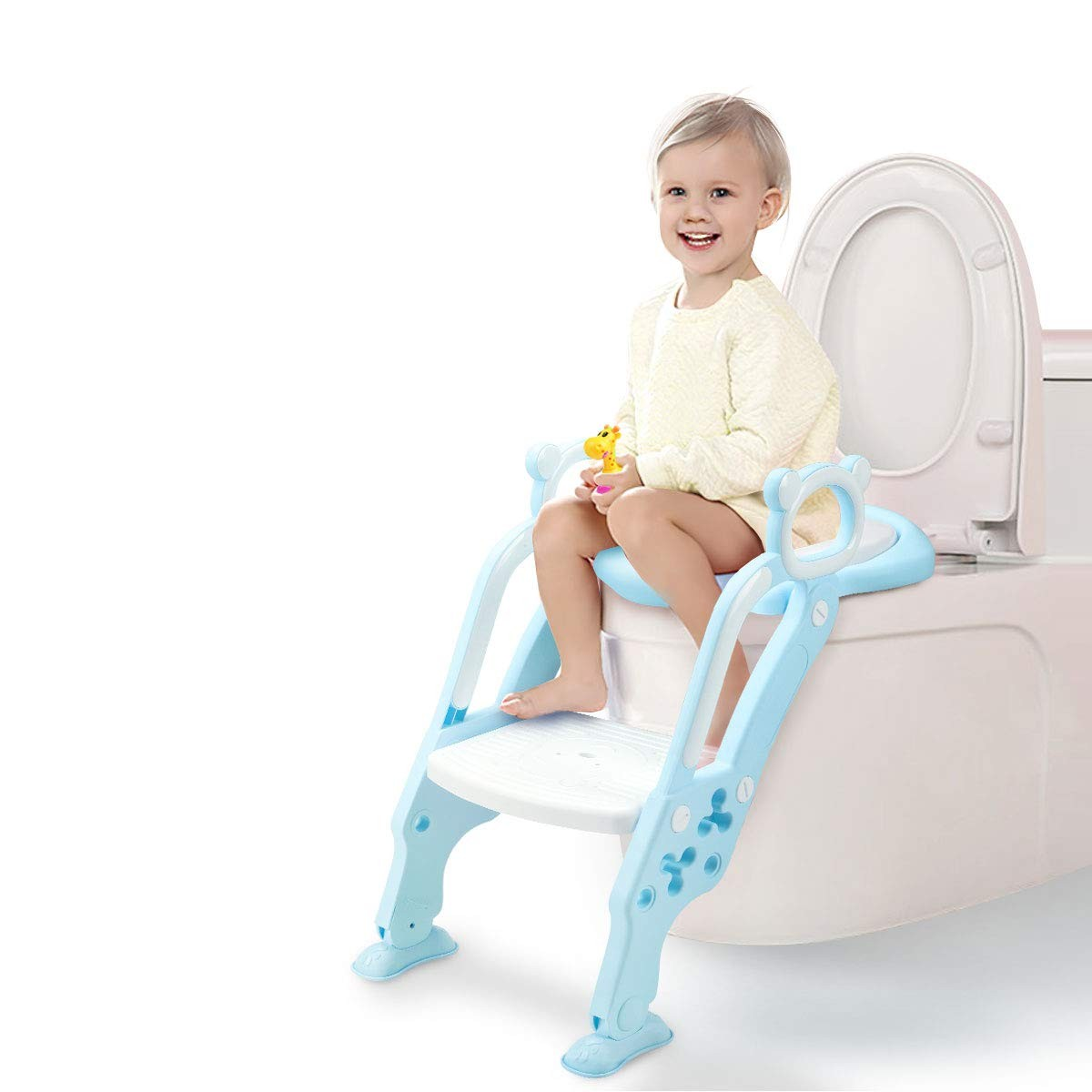 GrowthPic Potty Training Seat - Toddler Potty Seat with Sturdy Non-slip Ladder Step for Toddler