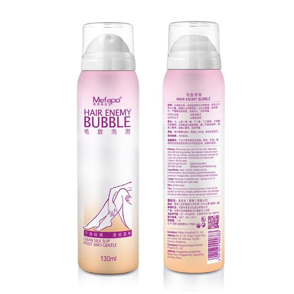 Hair Removal Cream Natural Hair Removal Cream Depilatory Bubble Body Bikini Legs Spray Foam Mousse