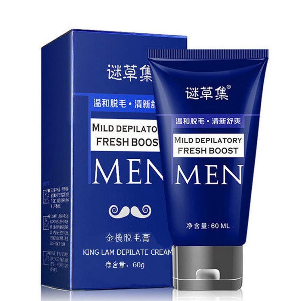 Hair Remove Cream,Enjocho 60ml Men's Permanent Body Hair Removal Cream Hand Leg Hair Loss Depilatory