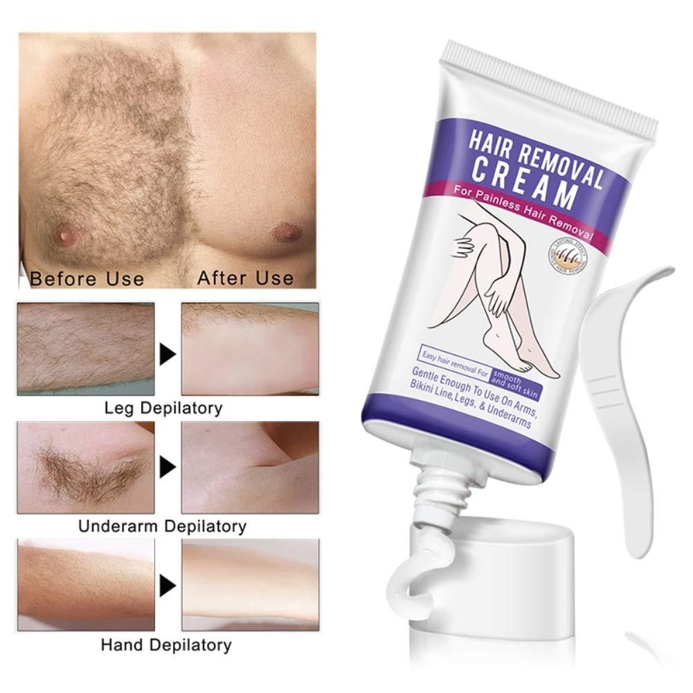 Hair Remover Cream, Sensitive Formula Depilatory Cream, Skin Friendly Natural Painless Hair Removal