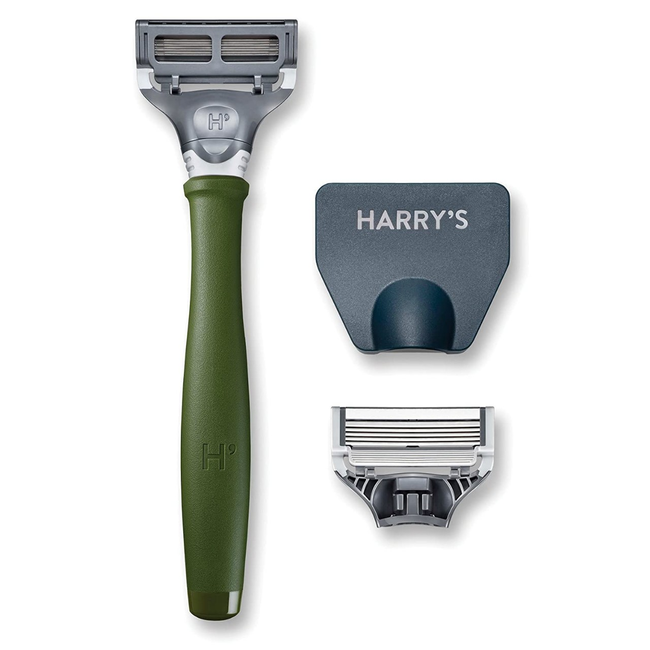 Harry's Men's Razor with 2 Razor Blades - Forest Green