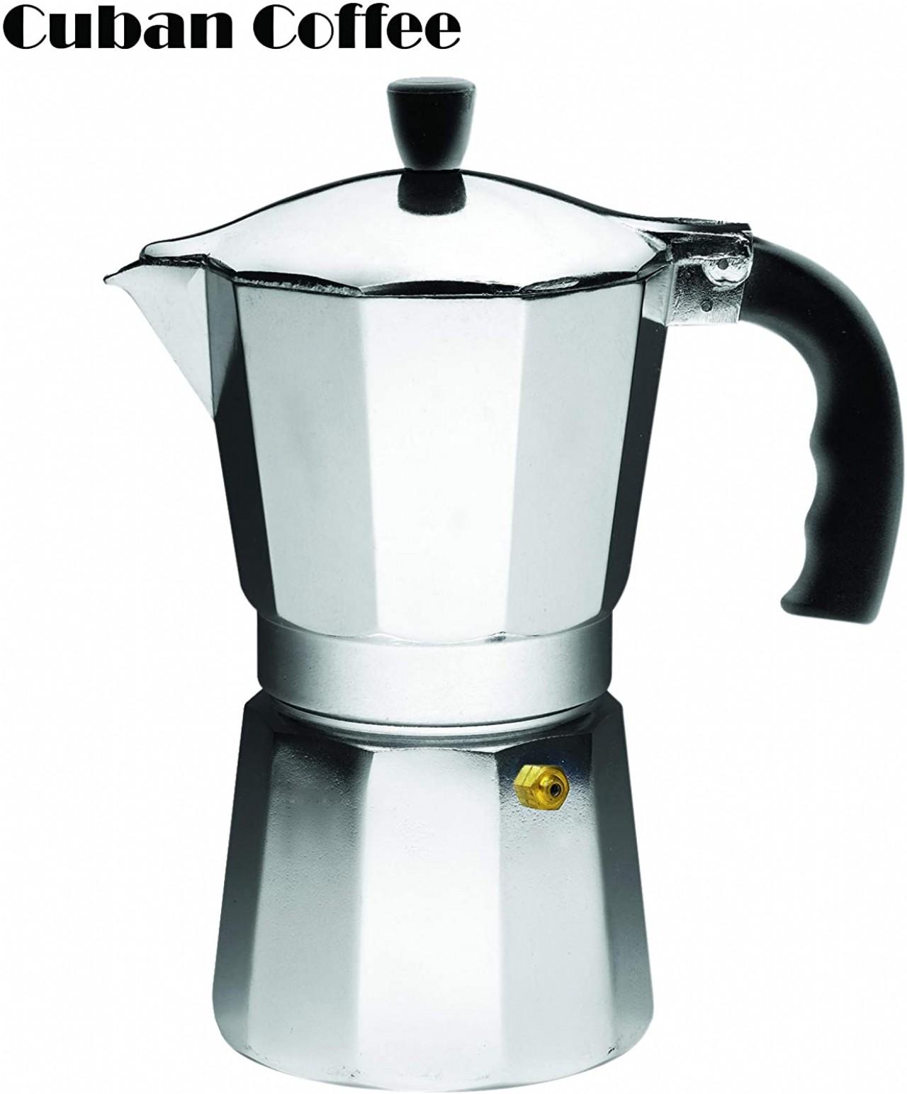 IMUSA USA Aluminum Stovetop 6-cup Espresso Maker
