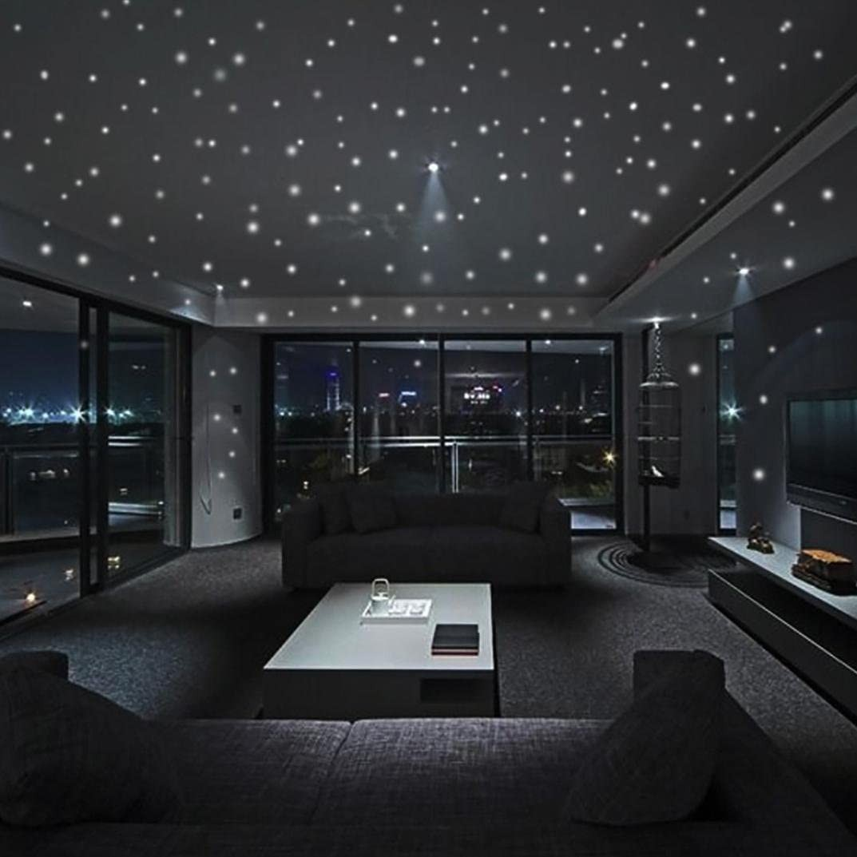 Iuhan Fashion Glow in The Dark Star Wall Stickers Round Dot Luminous Kids Room Decor (407Pcs)