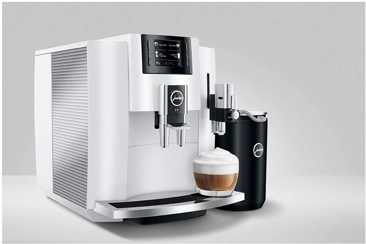 Jura E8 Smart Espresso Coffee Machine (White)