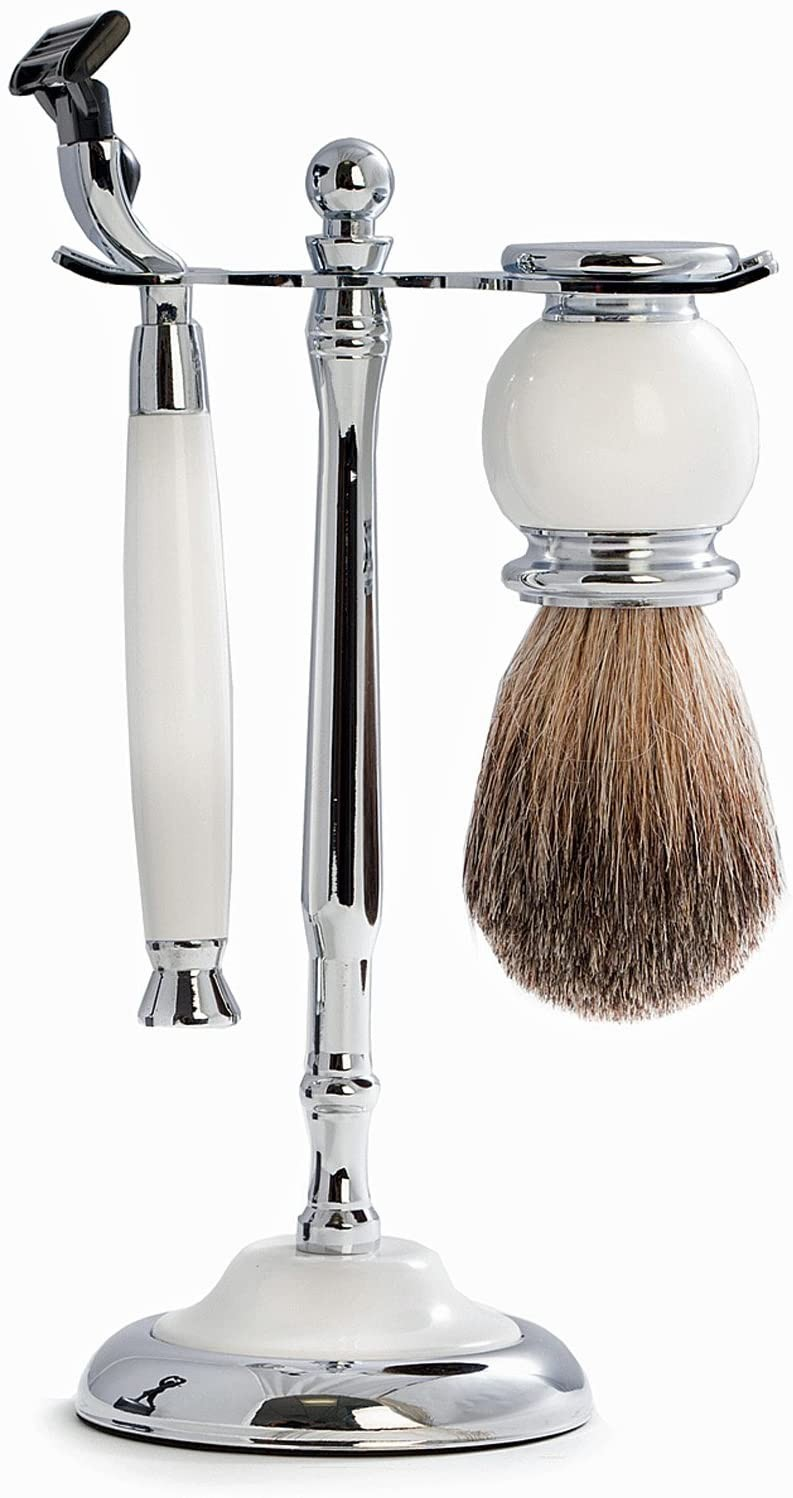 KensingtonRow Home Collection Shaving and Grooming Sets - Oxford Street Shaving Set : Razor - Brush