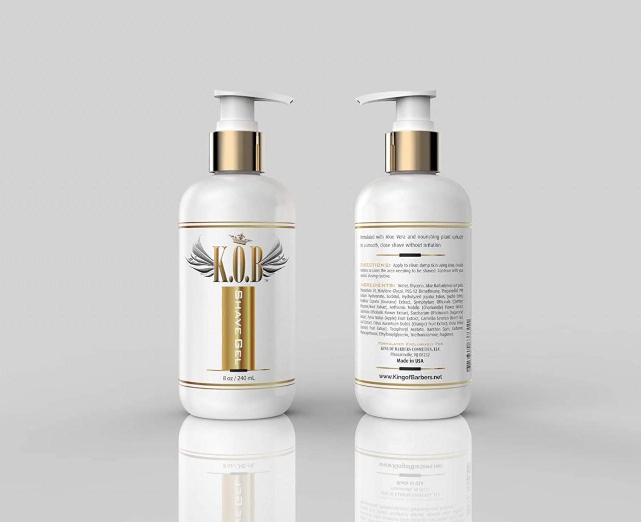 K.O.B. Premium Shaving Gel For Men & Women (8 oz/240 ml) Hydrating & Moisturizing Shave Gel