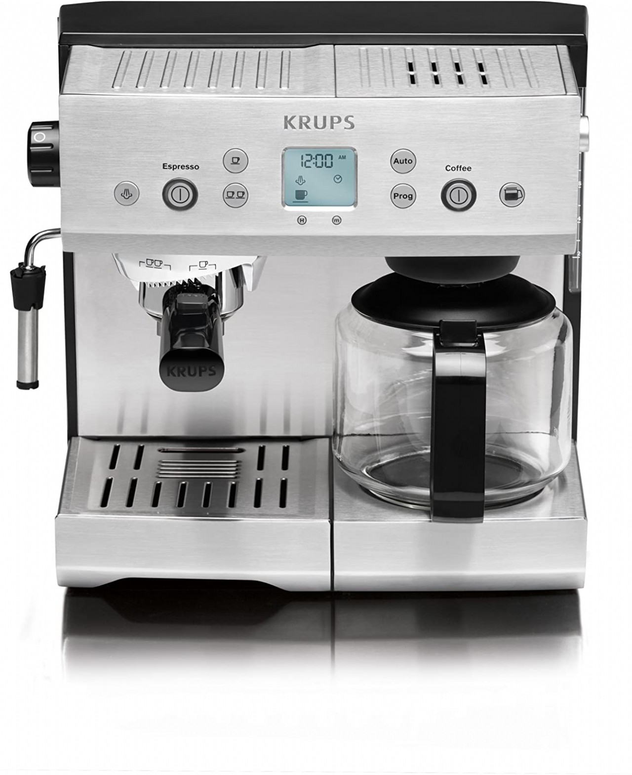 KRUPS XP2280 Espresso Machine and Coffee Maker Combination with KRUPS Precise Tamp Technology