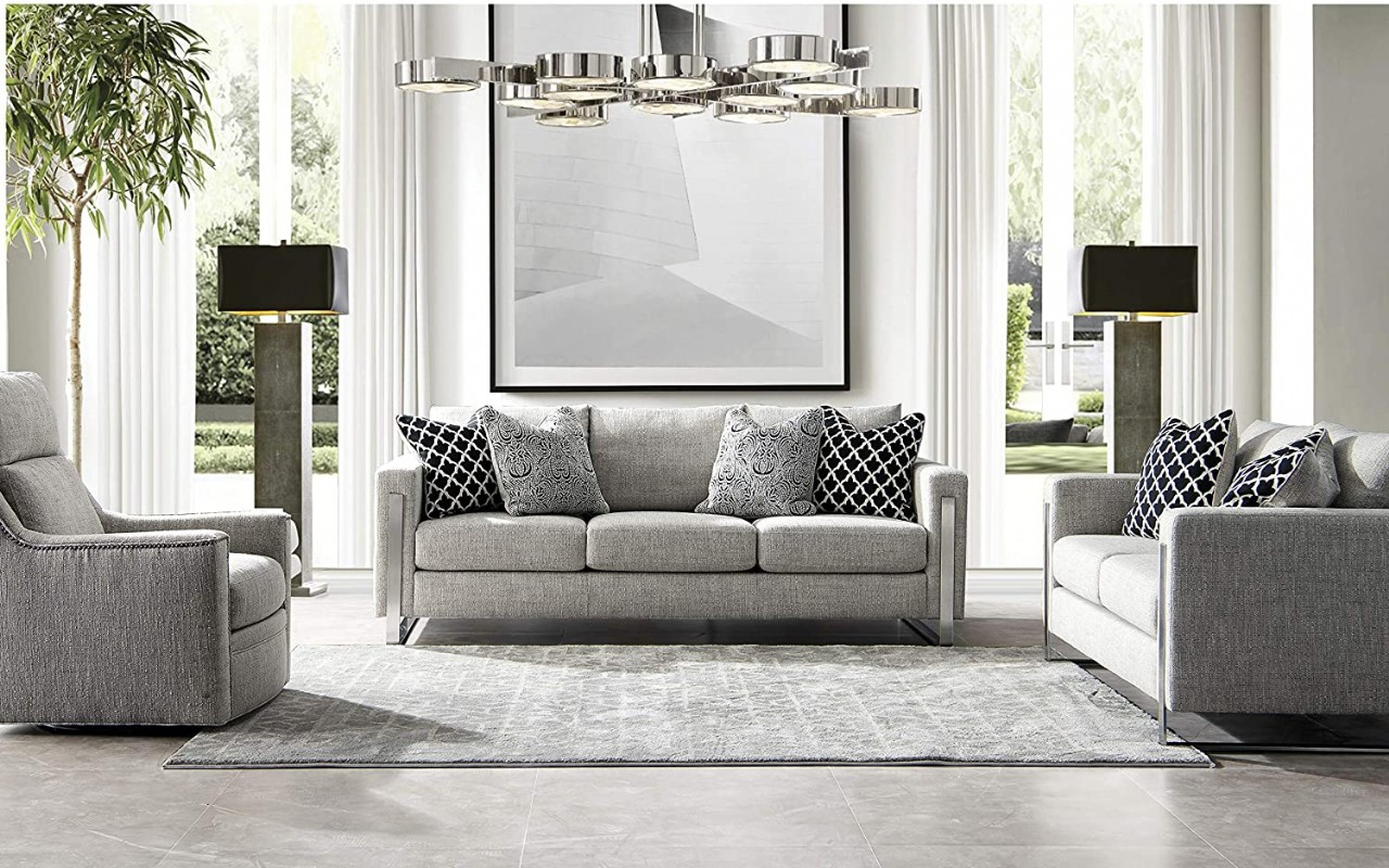 luxury contemporary downfilled living room sofa set 3