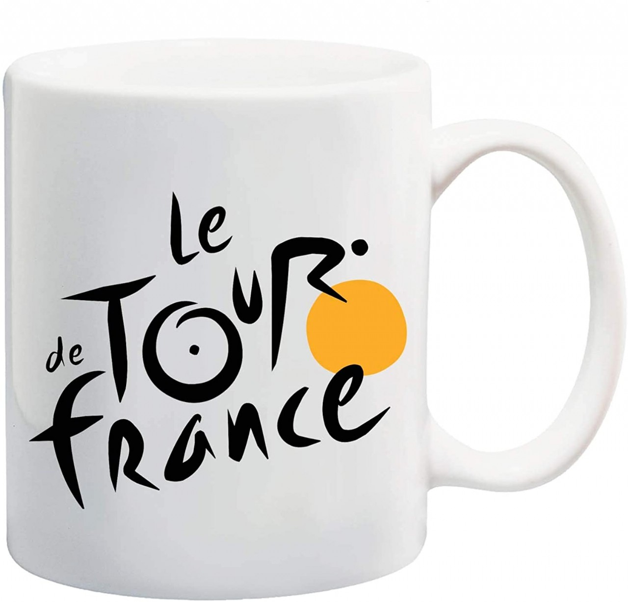 Manglam Mart The Tour Of France White Tea Coffee Mug Ceramic Coffee Tea Cup