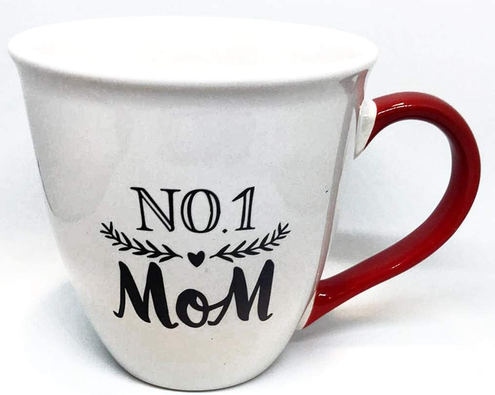 MOM Gift Mug inscribed: NO. 1 MOM | For Coffee Tea Latte | Great Mother's Day Gift!