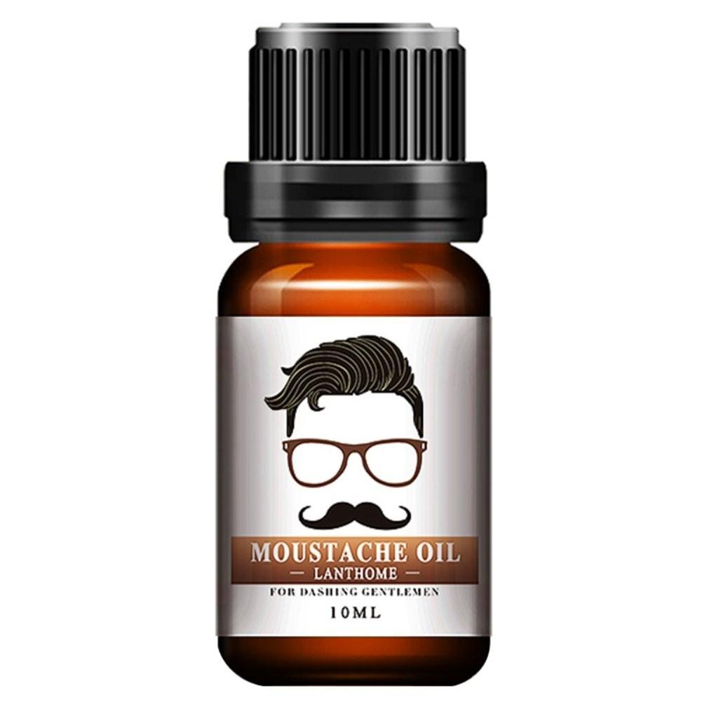 Moustache Oil,ROMANTIC BEAR Beard Oil Conditioner For Men Natural Soften & Strengthens Growth Care