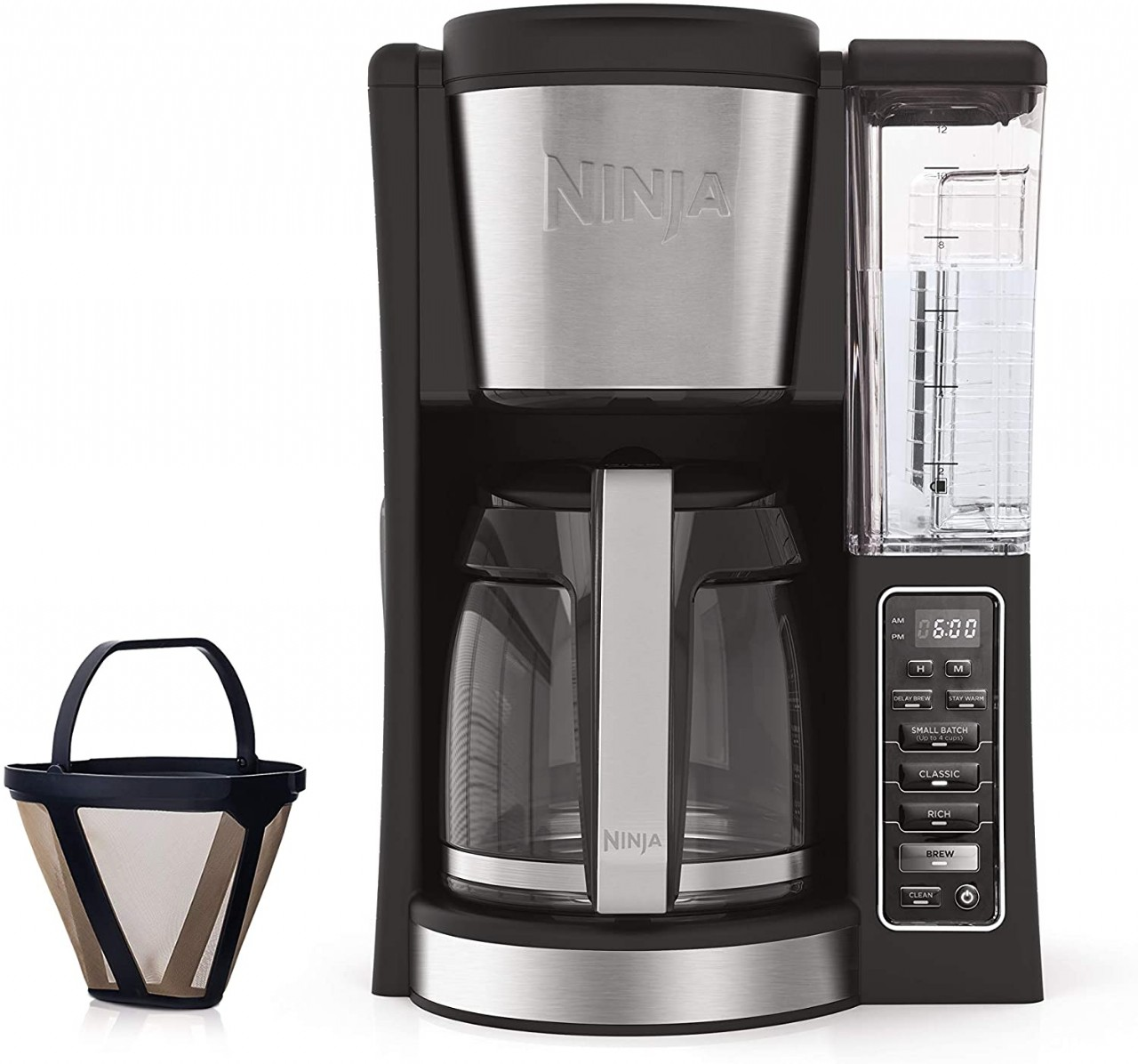 Ninja 12-Cup Programmable Coffee Maker with Classic and Rich Brews, 60 oz. Water Reservoir