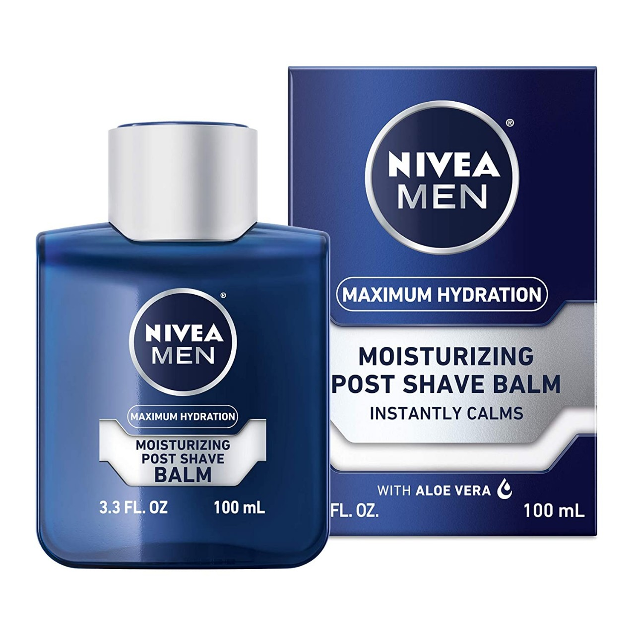 NIVEA Men Maximum Hydration Moisturizing Post Shave Balm - No Greasy Feel - 3.3 fl. oz Bottle