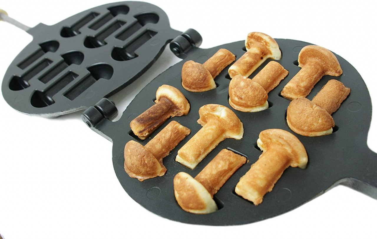 Non-stick Coating Cookie Mold Walnut Mushroom Assorted Tasty Homemade Cookies Baking Tools