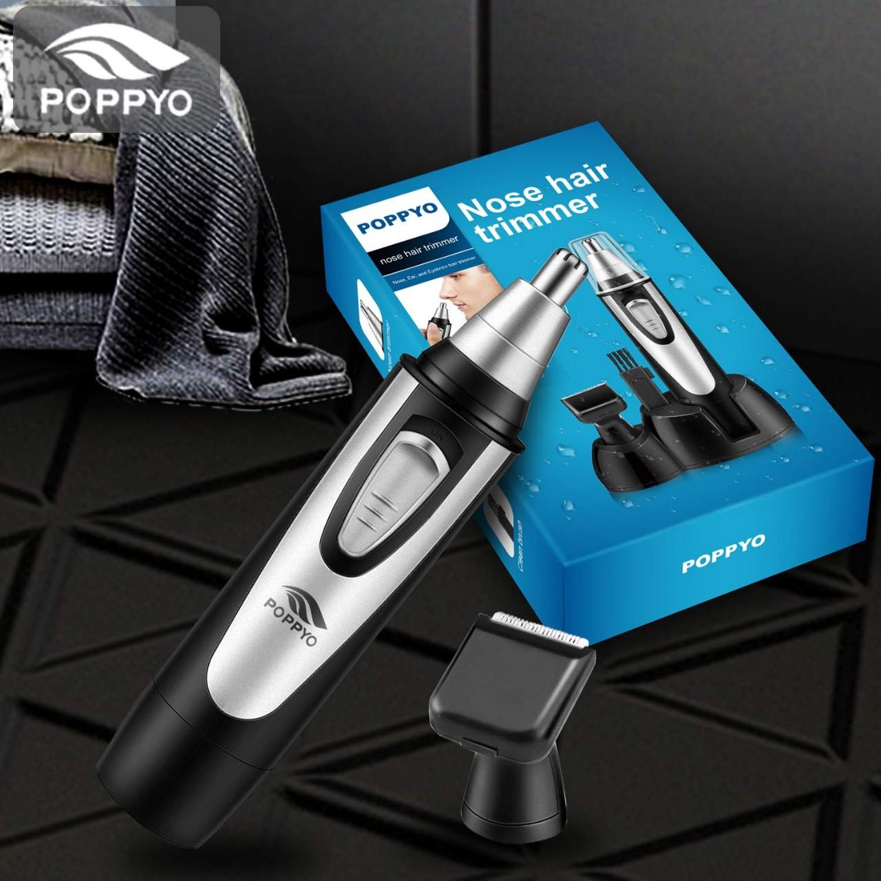 Nose Hair Trimmer for Men Women, POPPYO 2019 Professional Nose, Ear Hair Trimmer Clipper, Waterproof