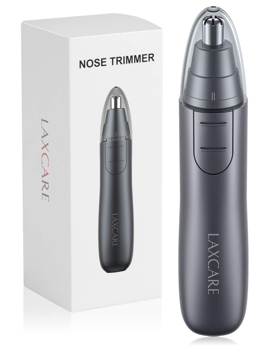 Nose Hair Trimmer, Laxcare Ears and Nose Trimmer Shaver Clipper Removal Dual Edge Blades for Men