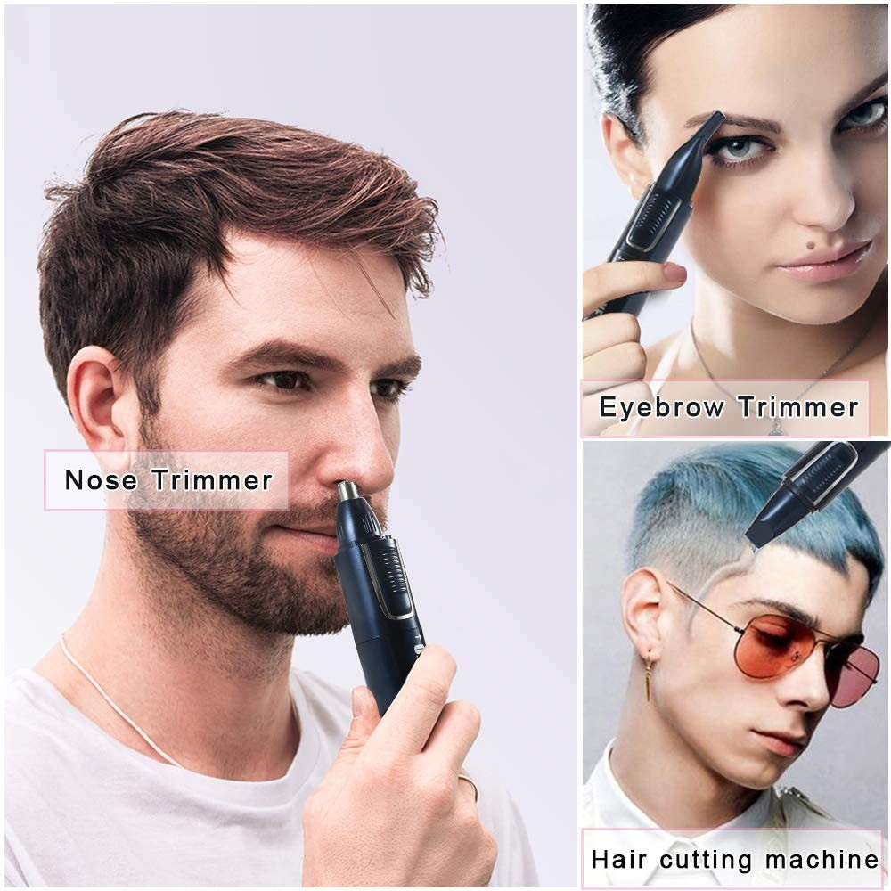 ONEDONE Nose Hair Trimmer for Men 3 in 1 USB Rechargeable Men Women Ear Nose Trimmer Painless
