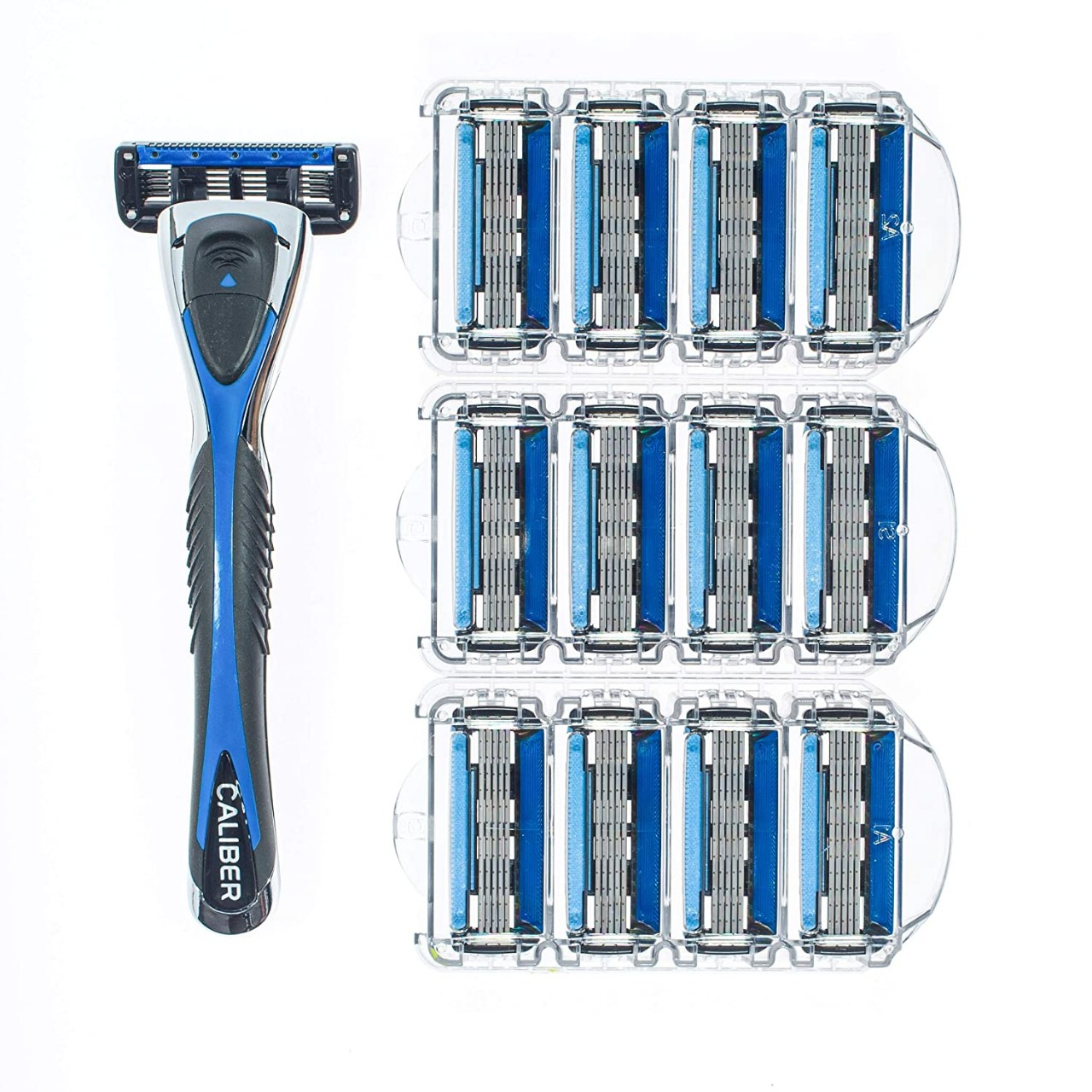 Personna Men's 5 Blade Razor System - Mens Shaving Razors - Razor Handle with 12 Replacement