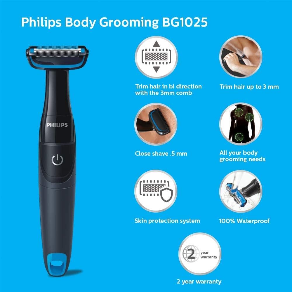 Philips BG1025/15 Body Groomer, (Black)