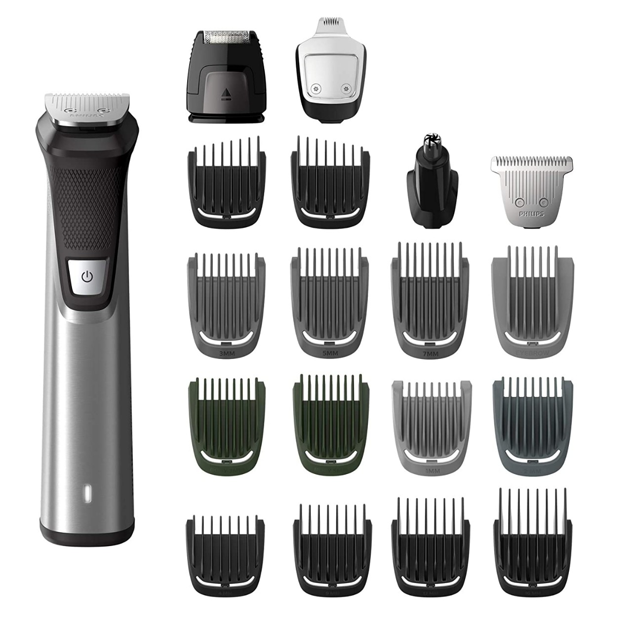 Philips Norelco MG7750/49 Multigroom Series 7000, Men's Grooming Kit with Trimmer for Beard, Head