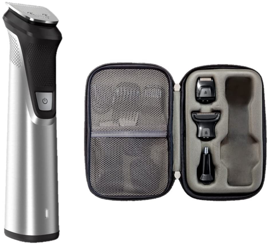 Philips Norelco Multigroom All-in-One Trimmer Series 9000, 25 pieces and premium case - No Blade Oil