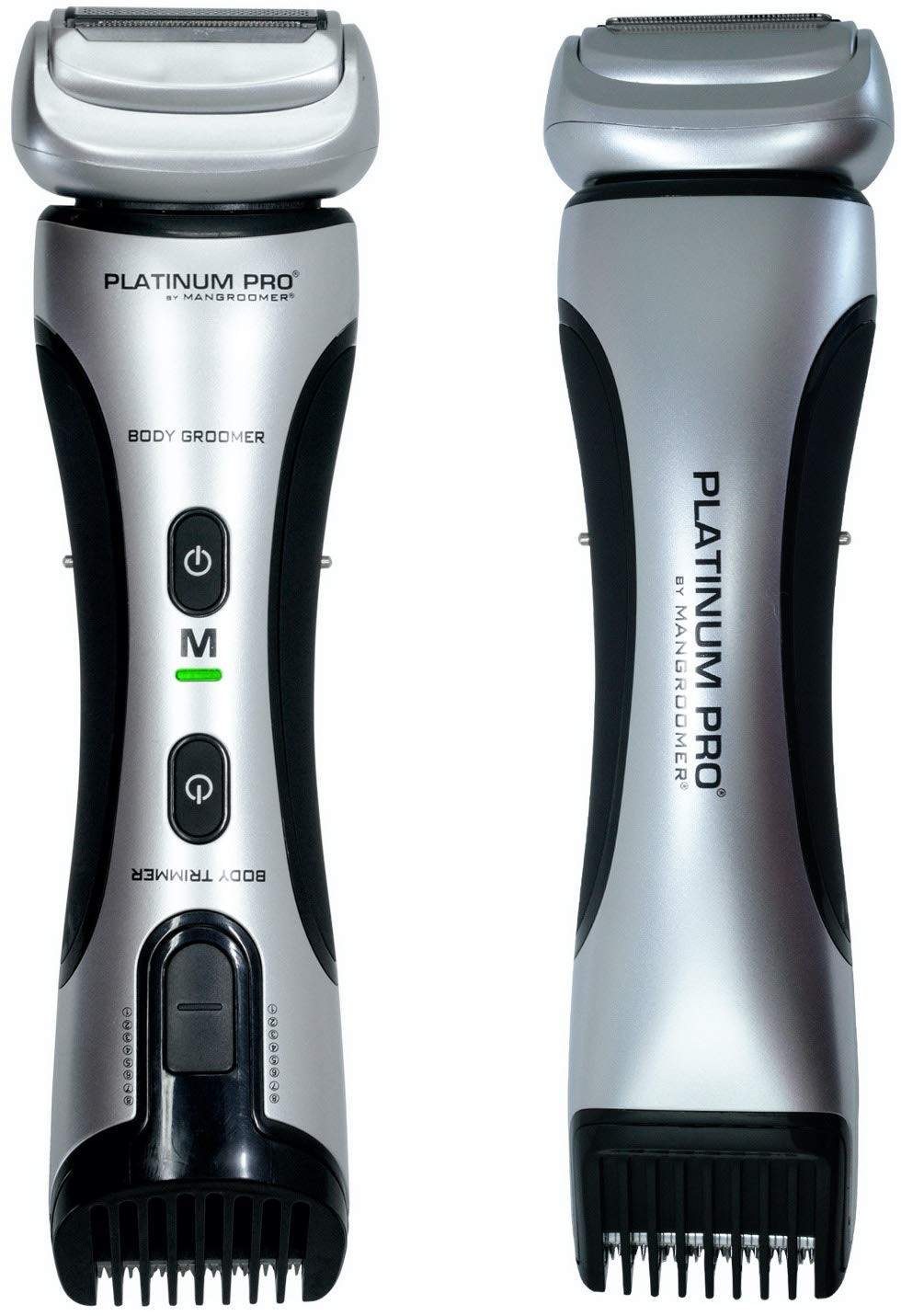 PLATINUM PRO by MANGROOMER - New Body Groomer, Ball Groomer and Body Trimmer with Lithium Max Batter