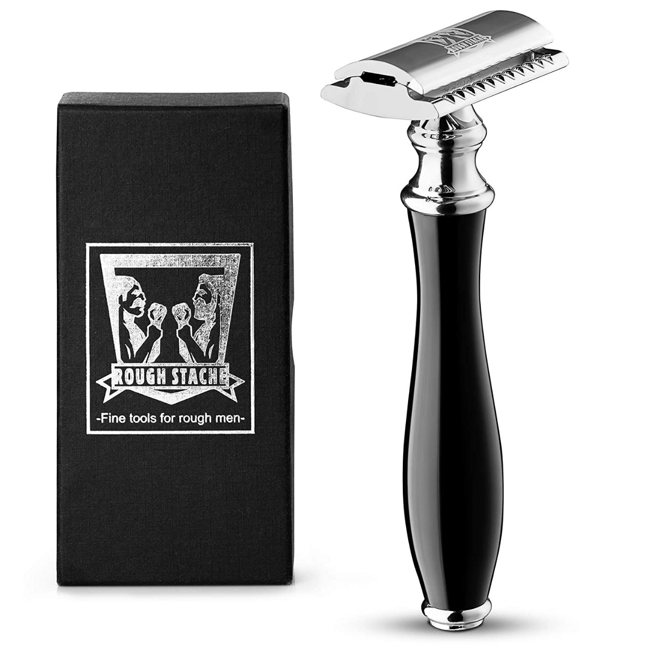 Professional Double Edge Safety Razor -Traditional Twist Open Men Razor Double Edge Blades