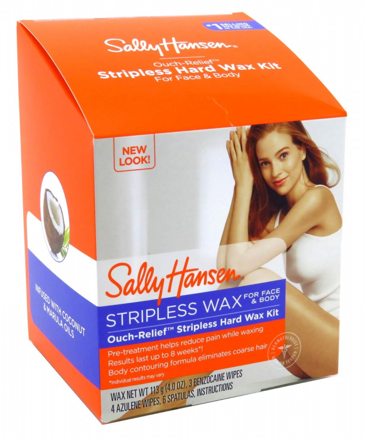 Sally Hansen Ouch-Relief Stripless Hard Wax Kit (2 Pack)