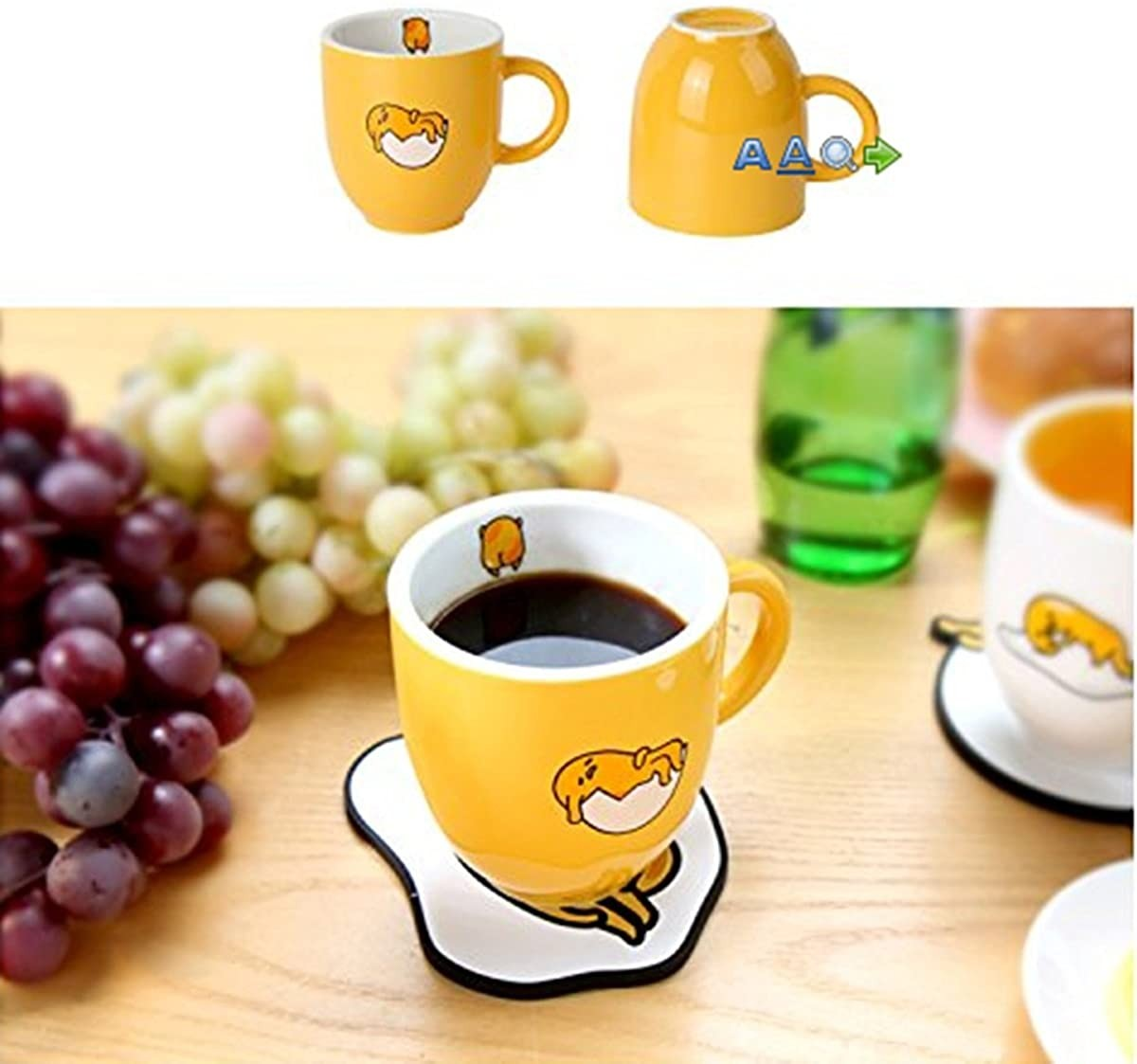 Sanrio Gudetama Ceramic Coffee / Tea Mug Cup (3 Designs) (Yellow)
