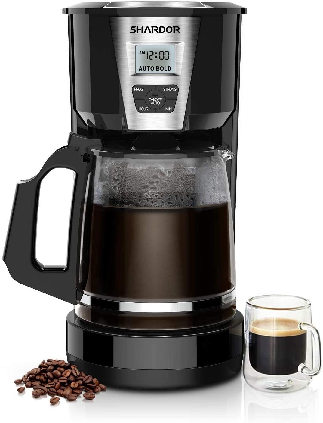SHARDOR Drip Coffee Maker, 12-15 Cups Programmable Brew Coffee Machine 2.0, Automatic Start and Shut