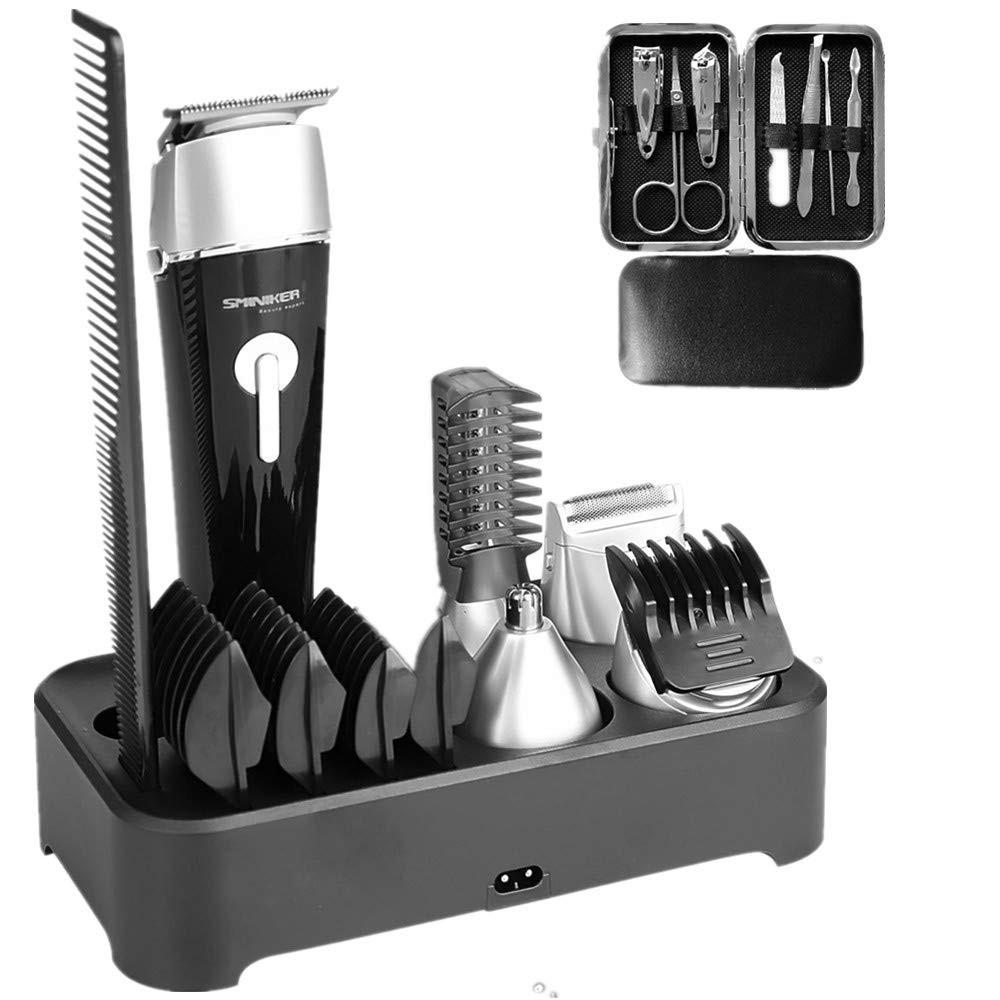 Sminiker Professional 5 in 1 Multi-functional Waterproof Man's Grooming Kit Hair Clippers Beard