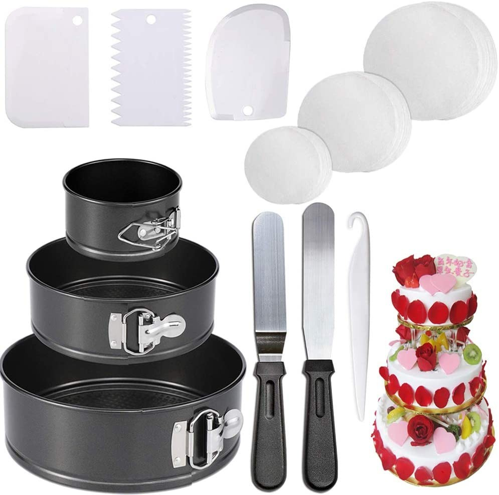 Springform pan Cake Pan cheesecake pans and 150-piece Parchment Paper Liners .Non-stick Round