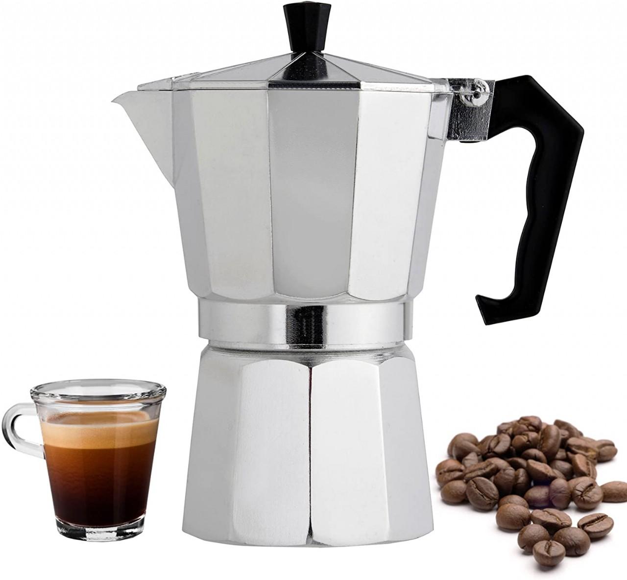 Stovetop Espresso Maker Moka Pots Machine Shot Coffee 6 Cup