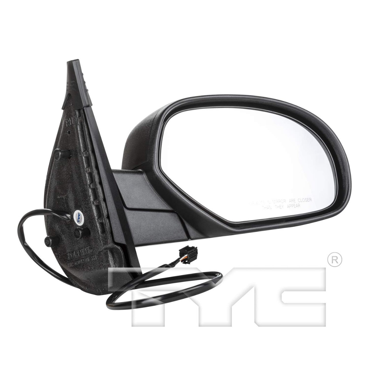 TYC 2170441 Chevrolet//GMC Passenger Side Power Heated Replacement Mirror