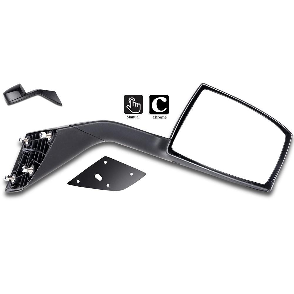 Replaces 82361058 Volvo VNL Black Hood Mirror Left Driver Side 2004-2016