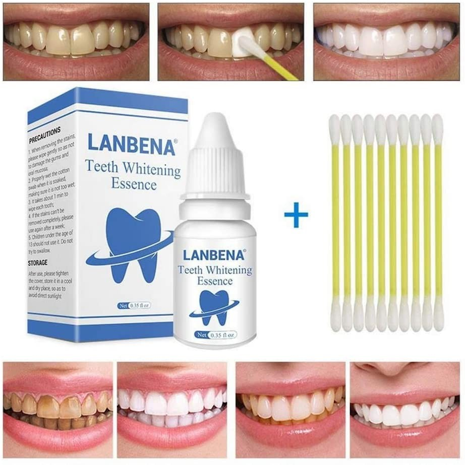 WuLian Teeth Whitening Essence Powder Cleaning Whitening Serum Tooth Bleaching Removes Plaque Stains