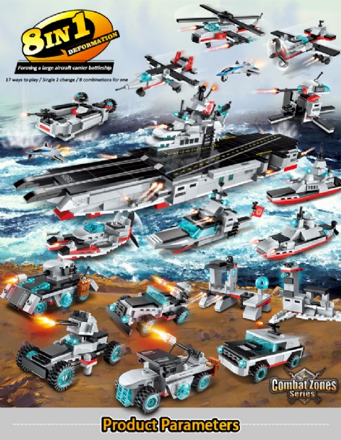 Aircraft carrier toys Construction DIY Toy Educational Toy