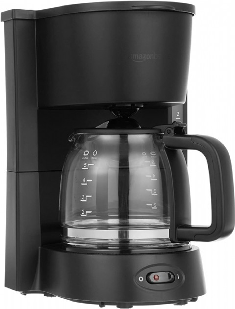 AmazonBasics 5-Cup Coffeemaker with Glass Carafe