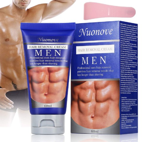 Hair Removal Cream for Men, Depilatory Cream, Natural Painless Permanent Thick Hair Removal Cream