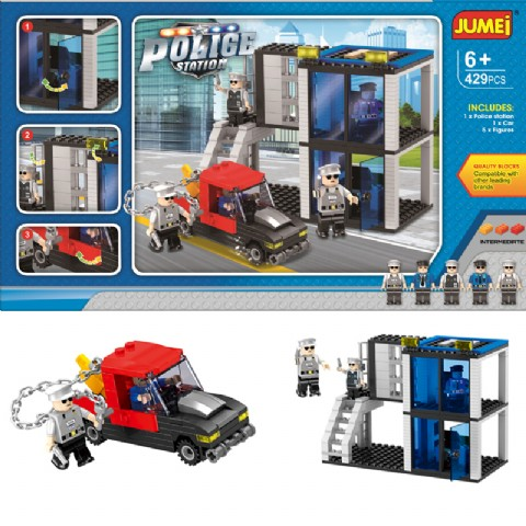 Police Station Educational construction plastic building blocks