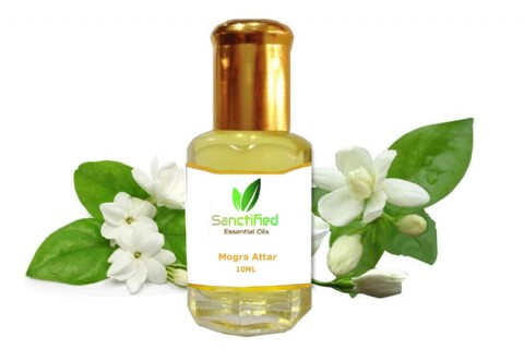 Pure Natural Fragrance Herbal Mogra Attar Oil Ayurveda Scent Organic Skin