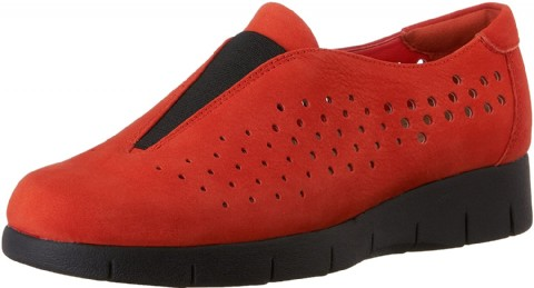 Red clarks shoes for women