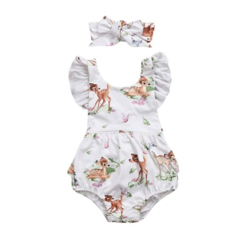 Romper baby girl clothes Toddler Baby Girl Clothes Romper Headband