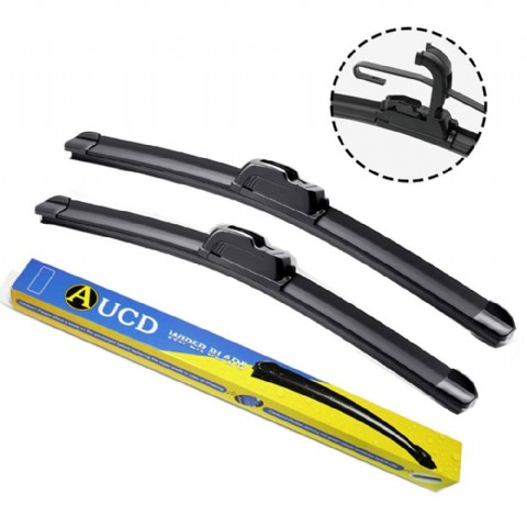 Wiper Blades Universal U/J Type Soft Frameless Bracketless Auto Car Windshield Wiper