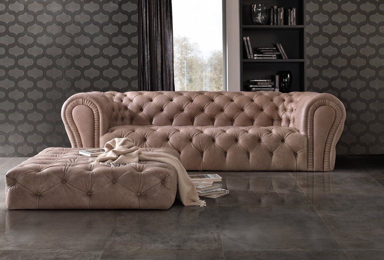 Black Chesterfield Sofas Couches Velvet and Leather