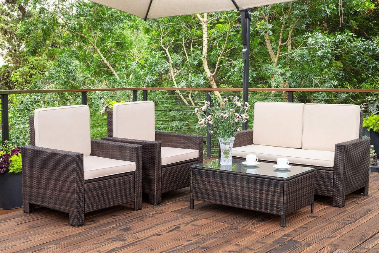Where to find cheap patio furniture? Outdoor Patio Furniture Sets Rattan Outdoor Indoor Backyard